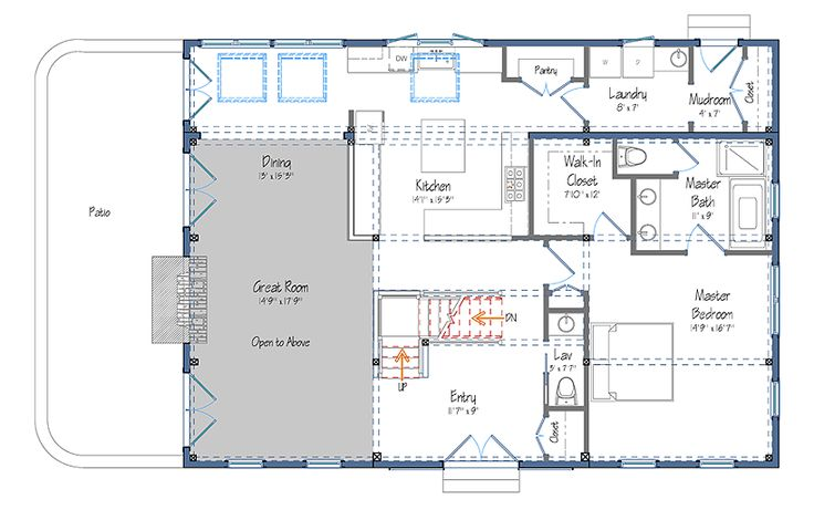 Barn style floor plans the haley barn style carriage Carriage barn plans