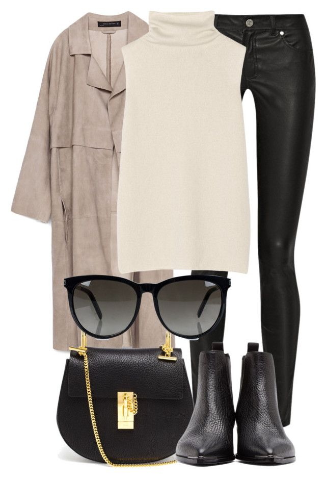 """Untitled #2152"" by rosyfilm ❤ liked on Polyvore featuring Zara, Acne Studios, The Row, Chloé and Yves Saint Laurent"