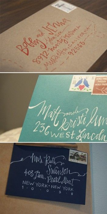 Eén manier om je trouwerij nog specialer te maken is door een bijzondere adressering van je trouwkaarten