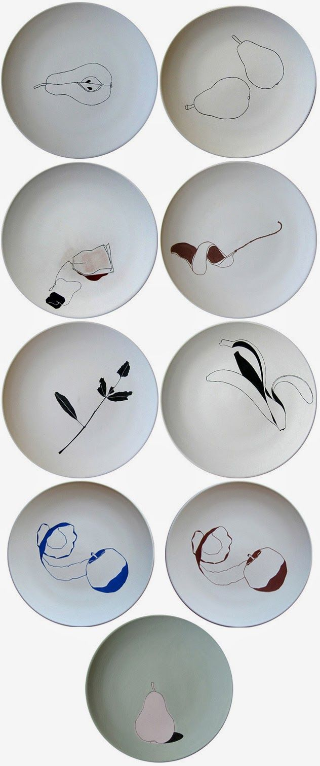 A plate a day: http://www.mignonkhargie.com/art/pottery/more-ceramic-plates-from-a-few-years-ago/