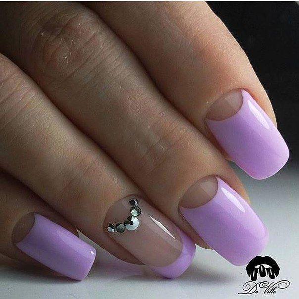 Ногти с лунками дизайн фото