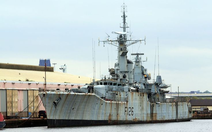 HMS Plymouth. The Rothesay-class frigate served in the Royal Navy from 1959 to 1988 and helped save the Falklands Islands from Argentinean invasion in 1982.