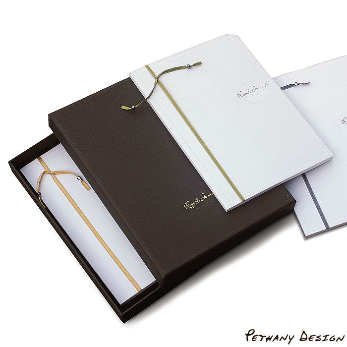 [ Royal Black Notebook Set ] Material: Paper, Recycled Paper Board. Designed in 2007 for Pethany+Larsen. Made in Germany.