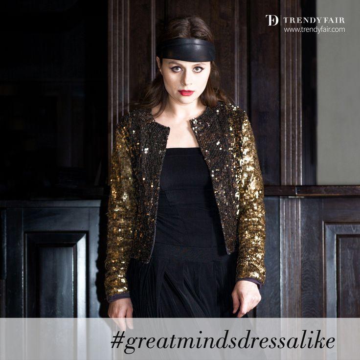 Great minds dress alike. Enough said.   Patrizia Pepe jacket, Yojhi Yammamoto dress