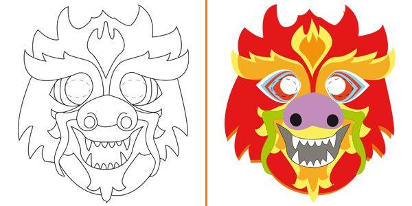 Maschere di animali da colorare e costruire per bambini for Neonati da colorare e stampare