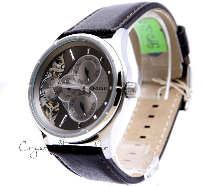 FOSSIL ME 1020 MECHANICAL TWIST LEATHER WATCH