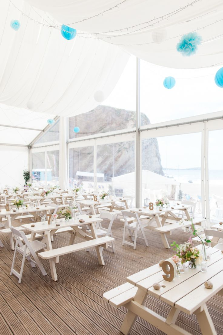 Photography: Camilla Arnhold Photography - camillaarnholdphotography.com Styling: Matthew Oliver The Wedding Planner - www.matthewoliver.co.uk/ Venue: Lusty Glaze Beach - www.lustyglaze.co.uk/wedding-venue-cornwall/ Read More on SMP: http://stylemepretty.com/vault/gallery/22730