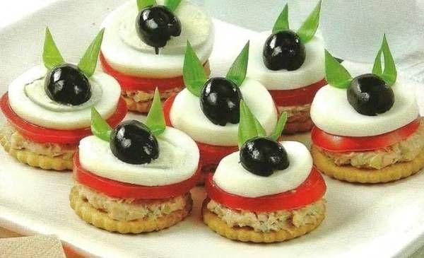 Канапе на день рождения | Рецепт | Идеи для блюд, Веселая ...