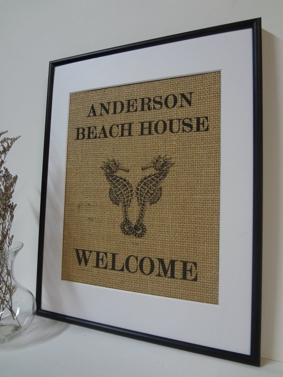 Myrtle Beach Personalized House Signs