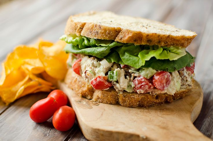 Light Ranch BLT Chicken Salad Sandwiches make a fantastic lunch that is healthy and loaded with flavor. For a lower carb option make it with lettuce cups!