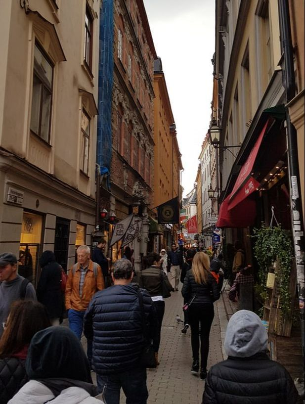 The streets of Stockholm's Gamla Stan - read more in our post about our flying visit in the Swedish capital with less than 48 hours to squeeze in so many amazing sights!