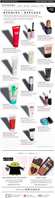Sephora email 2014