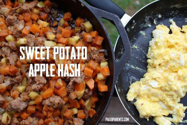 Sweet Potato Apple Hash #PaleoParents