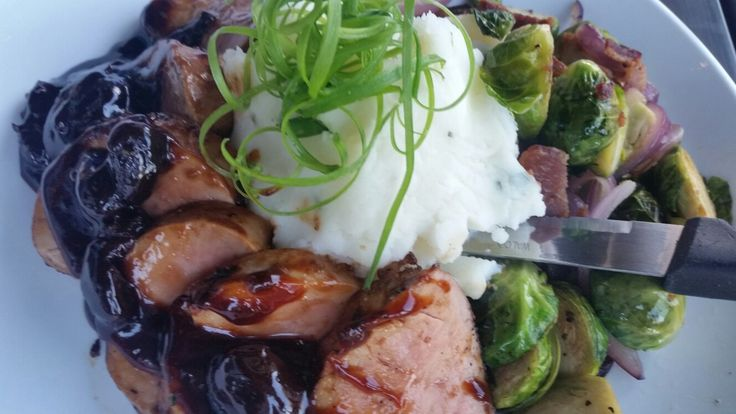 Restaurant Week Gilbert Grilled Pork with Black Cherry