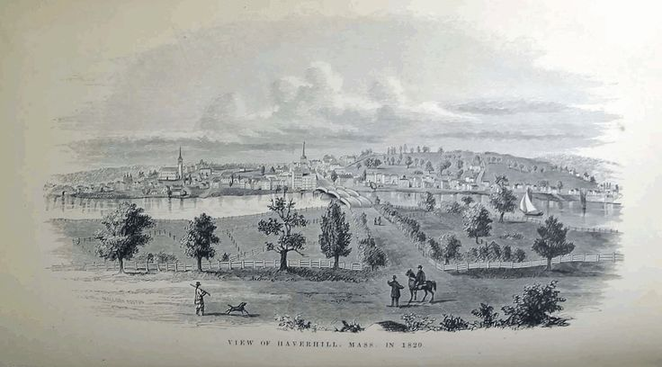 View of Haverhill in 1820, from History of Haverhill Massachusetts (1861) by George W. Chase