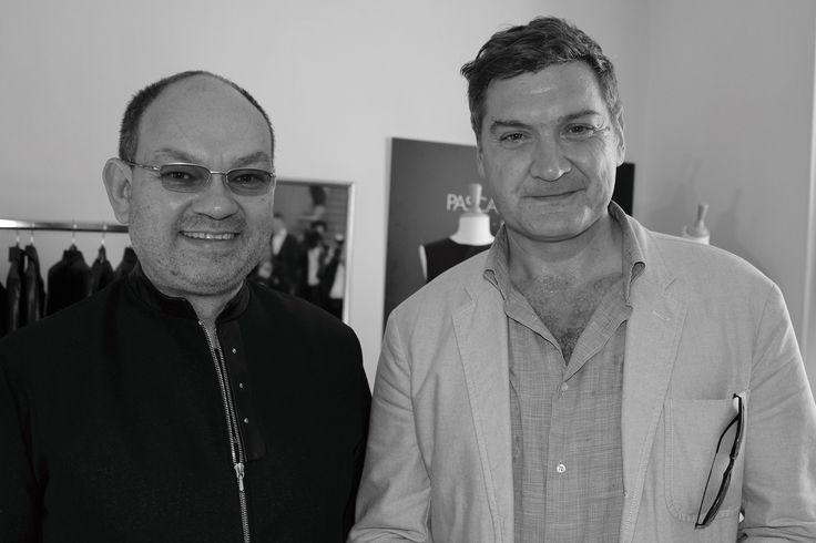 Thomas Bidegain visiting the private showroom of Pascal Piveteau