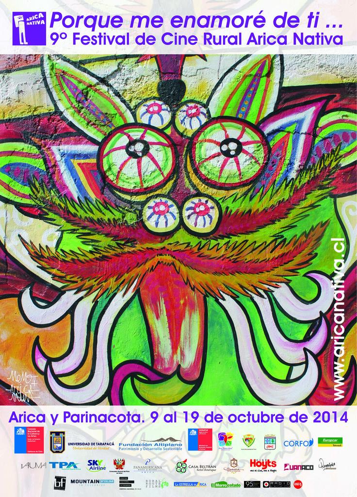 Afiche festival de Cine Rural Arica Nativa Año: 2014
