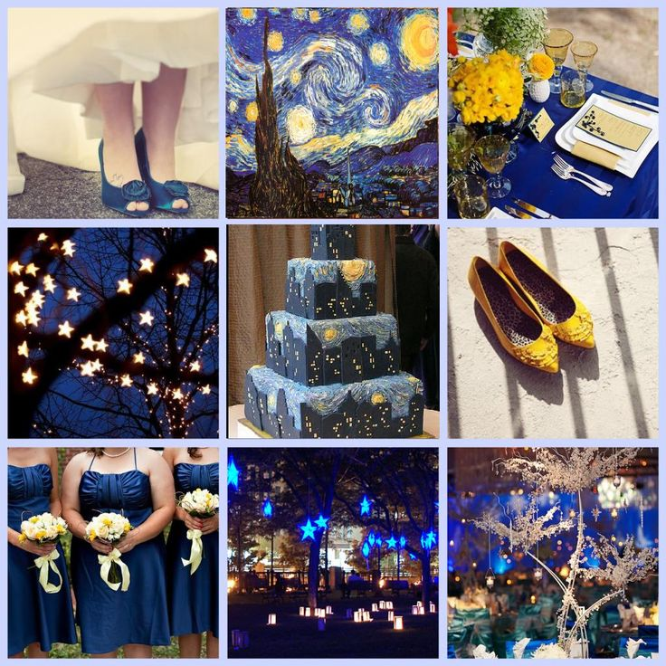 Night Themed Wedding Van Gogh Starry Mere Mention Of Brings