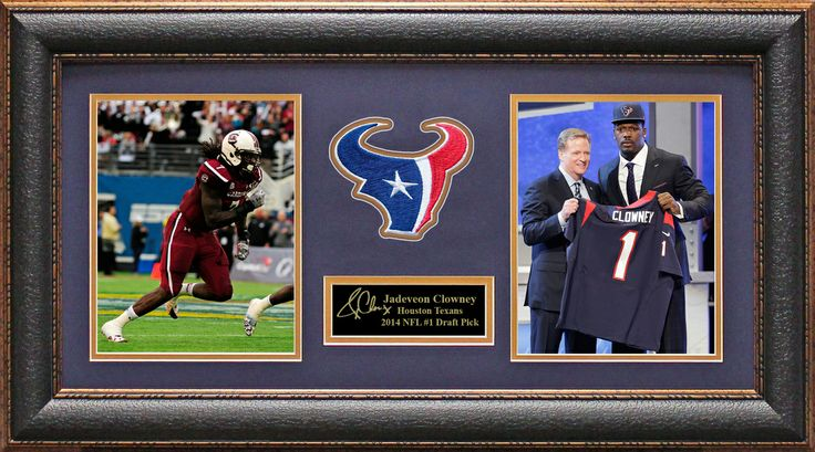 Signature Royale - Jadeveon Clowney Houston Texans 2014 1st Draft Pick Photo Display, $95.00 (http://www.signatureroyale.com/jadeveon-clowney-houston-texans-2014-1st-draft-pick-photo-display/)