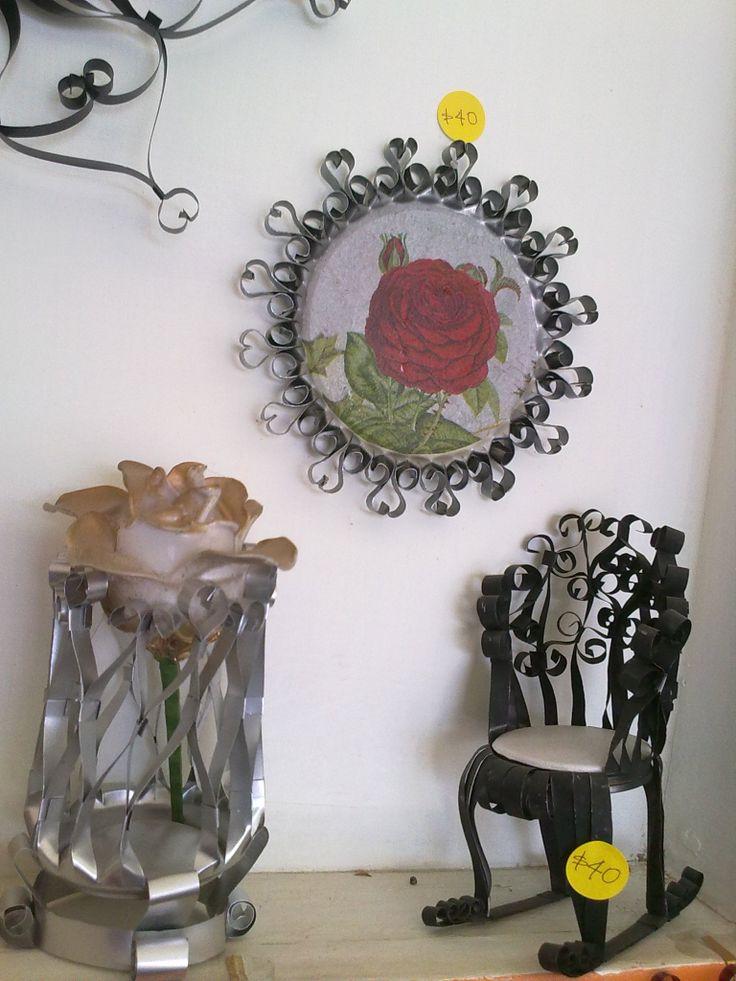 Aluminio florero silla lamina tapa tecnica servilleta - Flores de plastico ...