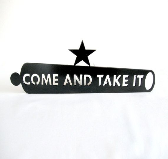 Black Come And Take It Cannon Hitch Cover by LethalFabrication, $40.00