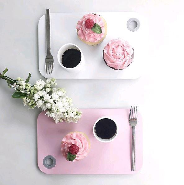 Je zelfgemaakte cupcakes serveer je prachtig op deze ontbijtplankjes van Rosti Mepal!