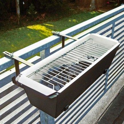 small apartment balconies need a small hanging bbq/grill