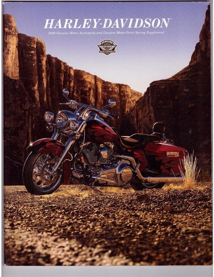 Harley Davidson 2008 Genuine Motor Accessories Parts Spring Supplement Catalog
