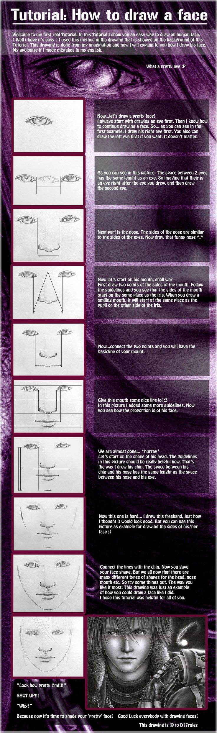Tutorial: How to draw a face by =D17rulez