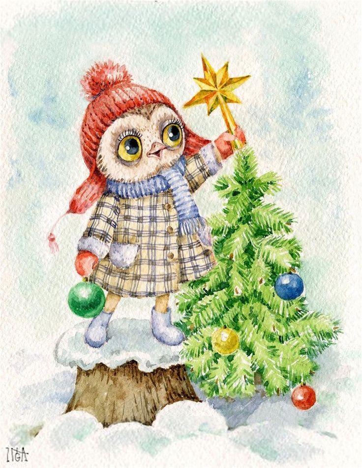 совы инги пальцер картинки новогодние