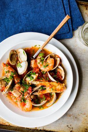 Cioppino is an Italian-American seafood stew first developed in San Francisco in the late 1800s. Originally made by Italian fisherman who had settled in the region, it was crafted directly on fishi…