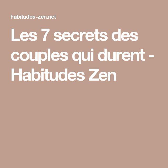 Les 7 secrets des couples qui durent - Habitudes Zen