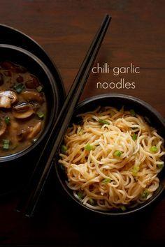 chilli garlic noodles recipe, how to make chilli garlic noodles