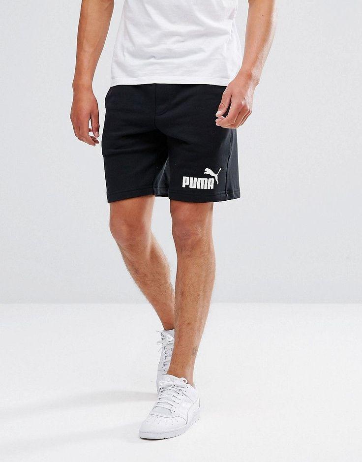 Puma ESS No.1 Sweat Shorts In Black 83826101 - Black