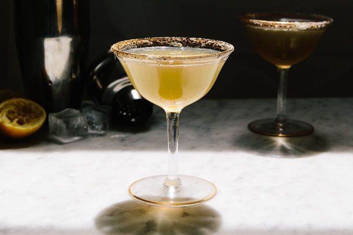 Queen Anne's Lace Cognac Cocktail, I never would have thought of this!