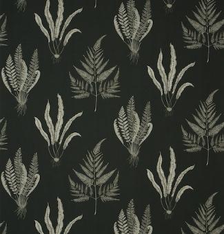 Patterns. black and white. ferns. botanical. wallpaper www.naturalhistory.co.uk