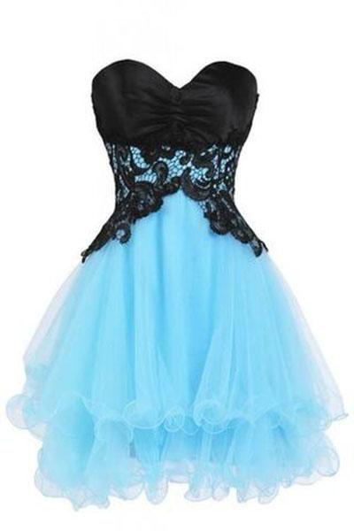 Sweetheart Bridesmaid Short Prom Homecoming Party Dresses For Juniors PH216 #shortpromdresses