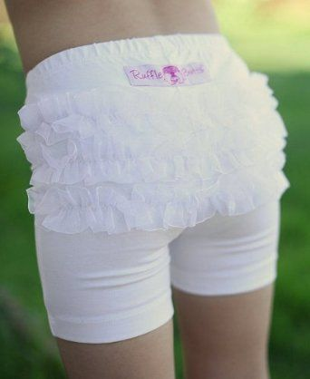 RuffleButts Toddler Girl White Knit Ruffle Under Dress Shorts: Little Dresses, Summer Dresses, Little Girls, White Playground, Girls Generation, Cute Ideas, Toddlers Girls, Jungles Gym, Playground Shorts