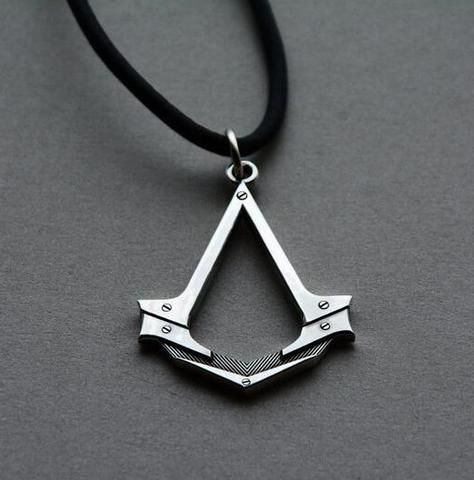 Assassins Creed Necklace Antique Silver Figure Pendant Leather Rope Necklace for Men Cosplay Game Accessories Drop - Hespirides Gifts - 1 http://www.thesterlingsilver.com/product/birthdate-1946-coin-cufflinks-mens-gift-present-for-70th-birthday-cufflinks/