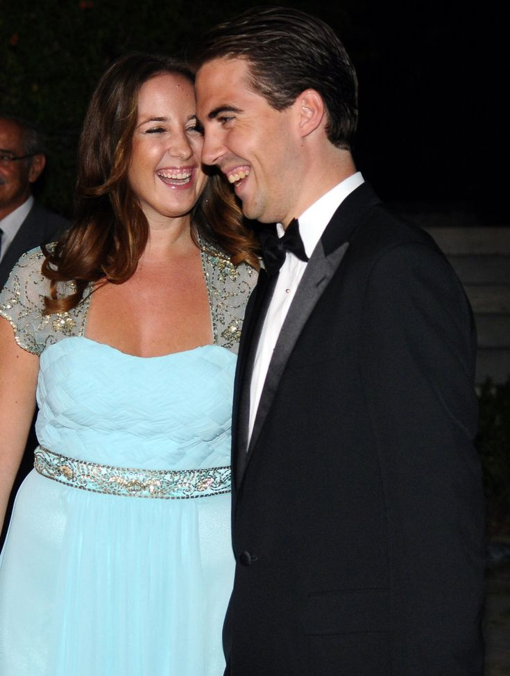 Princess Theodora of Greece and Denmark and Prince Philippos of Greece arrive for a private dinner organized by former King Constantine II of Greece and former Queen Anne-Marie to celebrate their Golden wedding anniversary at the Yacht Club of Greece in Piraeus, Greece, 18 September 2014.