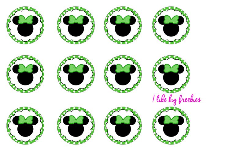 St. Patrick's Day Minnie Mouse bottlecap images