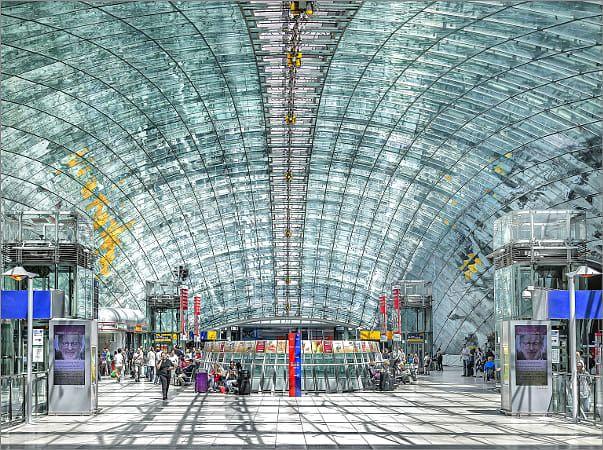 Railway Station Frankfurt A M Airport Rhein Main Gebiet Deutschland