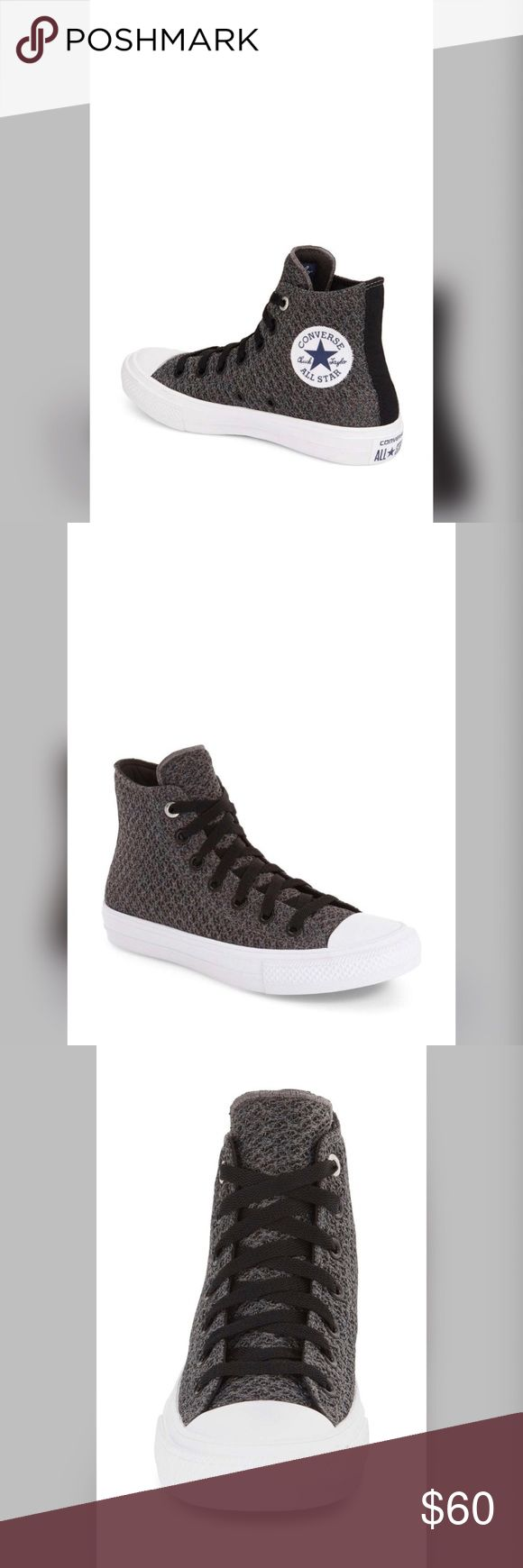 🔥SALE Converse All Star Chuck Taylor New Converse All Star Chuck Taylor Unisex BNIB. Gray and white combination Chuck Taylor Unisex size 5 (Men) or size 7 (women) $90 Retail. Make me a reasonable offer. Has 2 laces black and white Converse Shoes Sneakers