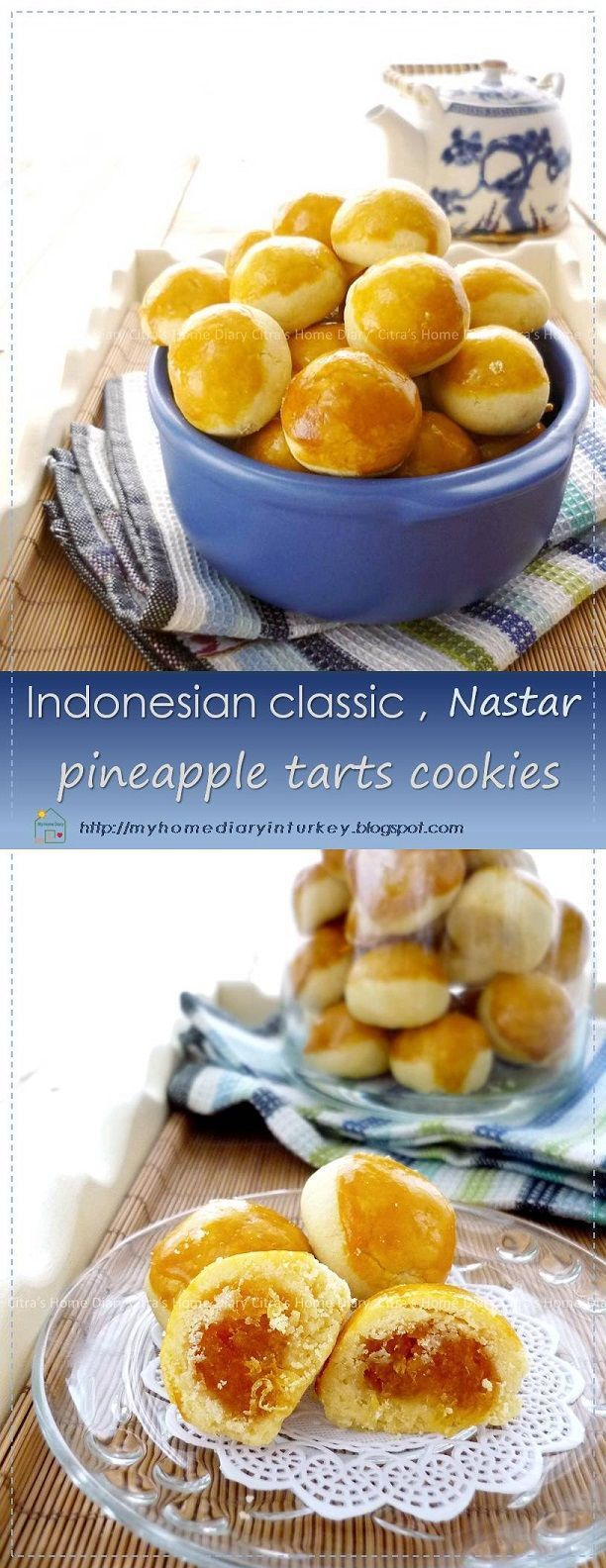 Pineapple tarts cookies is one of Indonesian traditional (and some neighbouring countries) cookies that commonly made and serve during religious holiday such as Eid-el Fitr or christmas along with many other traditional cookies. #koekjes #cookies #nastar #indonesiancookies #pineapple #eidulfitr #christmascookies #kuekeringlebaran