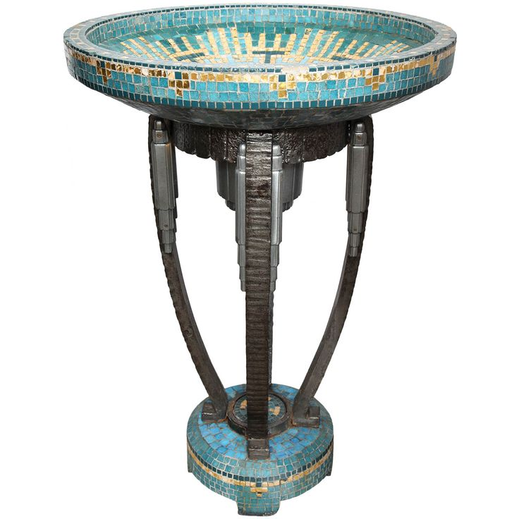 A 1920's French Art Deco Illuminated Pond Attributed To Edgar Brandt | From a unique collection of antique and modern planters and jardinieres at http://www.1stdibs.com/furniture/building-garden/planters-jardinieres/