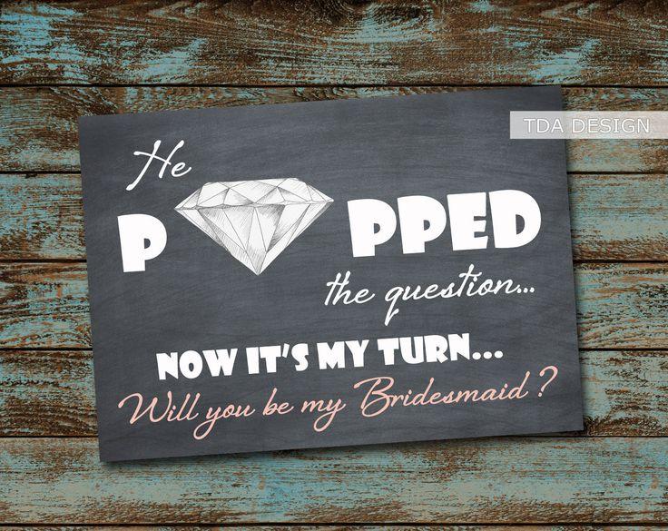 The 25 best Bridesmaid invitations ideas on Pinterest Ask