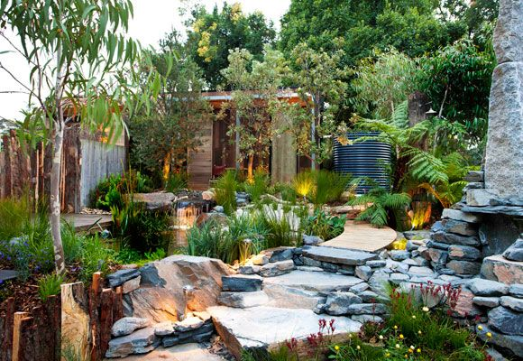 This 'Equilibrium' garden won a gold medal at MIFGS. Designer Phillip Johnson has been selected to create an Australian Garden for London's Chelsea Flower Show 2013.