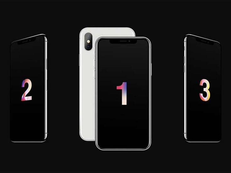 iPhone X Mockup Set - Free PSD