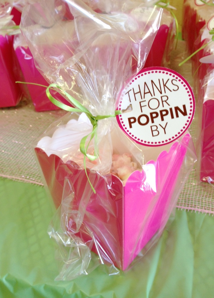 Ready to POP baby shower: Favors