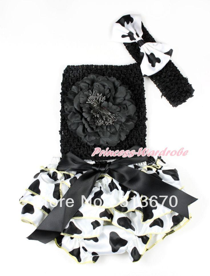 Черный с бантом коровьего молока атласа промах, Черный пион черный вязание верхней части, Черный повязка на голову коровьего молока атласный бант 3 шт. комплект MACT648